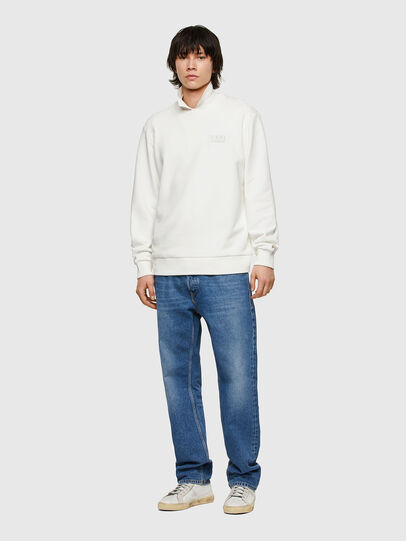 Diesel - S-GIRK-E1, Blanc - Pull Cotton - Image 4