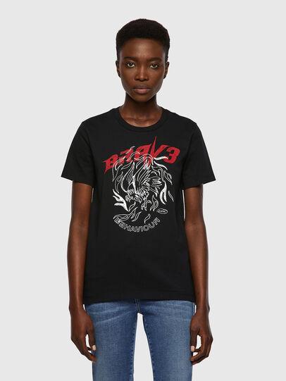Diesel - T-SILY-B2, Noir - T-Shirts - Image 1