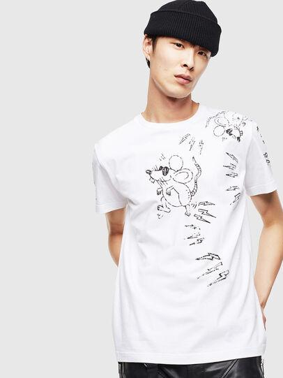 Diesel - CL-T-DIEGO-3, Weiß - T-Shirts - Image 1