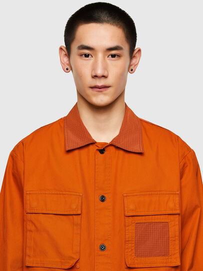 Diesel - S-GUNN-LS, Orange - Chemises - Image 3