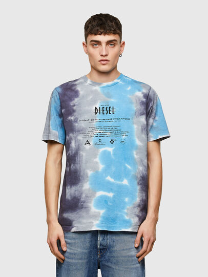 Diesel - T-JUST-E13, Gris/Bleu - T-Shirts - Image 1