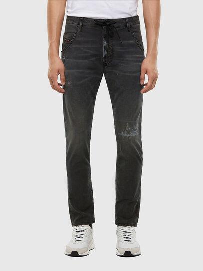 Diesel - KROOLEY JoggJeans® 009LB, Schwarz/Dunkelgrau - Jeans - Image 1