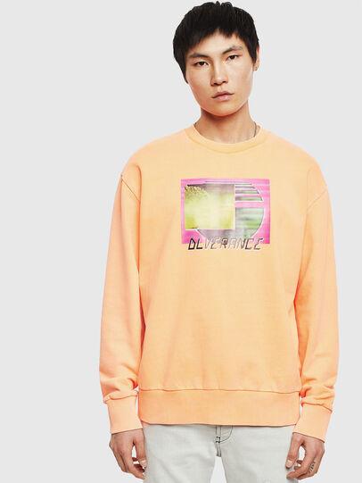 Diesel - S-BIAY-FLUO, Orange - Sweatshirts - Image 1