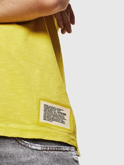 Diesel - T-DIEGO-CUT-A, Gelb - T-Shirts - Image 5