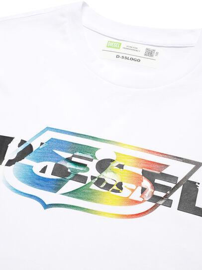 Diesel - D-55LOGO, Weiß - T-Shirts - Image 3