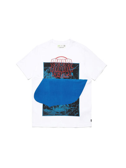 Diesel - D-SHIELD-BLU, Weiß - T-Shirts - Image 1
