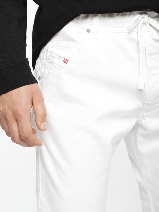 Diesel Krooley JoggJeans 0684U, Weiß - Jeans - Image 5