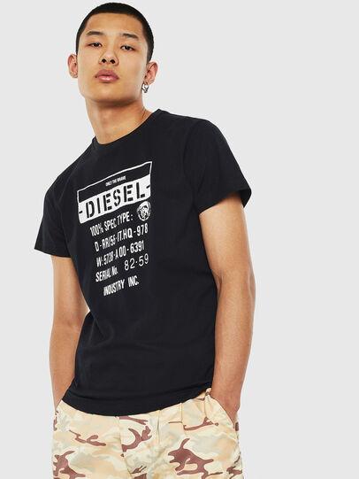 Diesel - T-DIEGO-S1, Schwarz - T-Shirts - Image 1