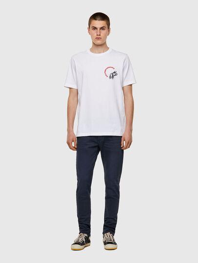 Diesel - T-JUST-B55, Blanc - T-Shirts - Image 4
