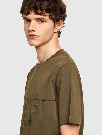 Diesel - T-JUSTEMB, Vert Militaire - T-Shirts - Image 3