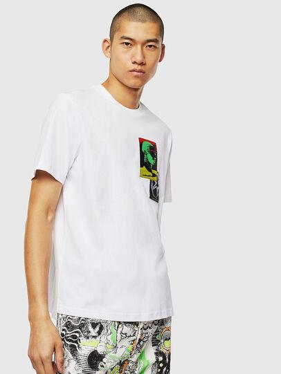 Diesel - T-JUST-SLITS-J18, Weiß - T-Shirts - Image 1