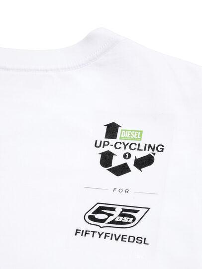 Diesel - D-5055-W, Weiß - T-Shirts - Image 5