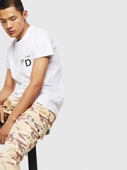 Diesel - T-HOVER, Weiß - T-Shirts - Image 4