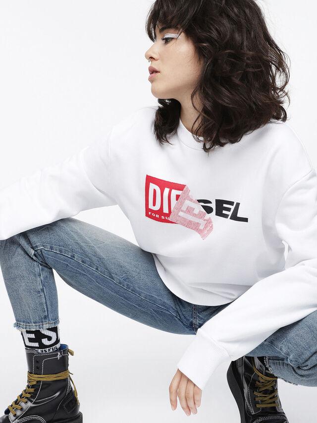 Diesel F-SAMY-FL, Weiß - Sweatshirts - Image 3