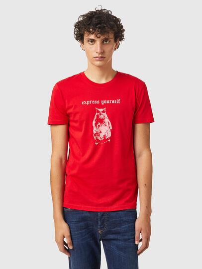 Diesel - T-INY-B2, Rouge - T-Shirts - Image 1