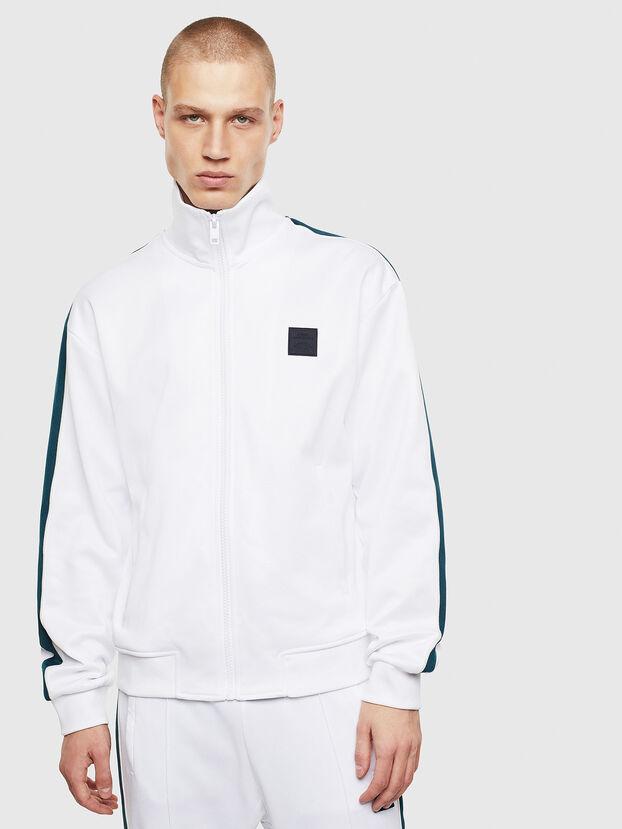 S-CORTESS, Weiß/Grün - Sweatshirts