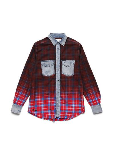 Diesel - D-DEEPCHECK-B, Rot - T-Shirts - Image 1