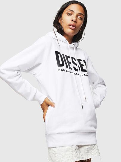 Diesel - F-GIR-HOOD-DIV-LOGO-, Weiß - Sweatshirts - Image 1