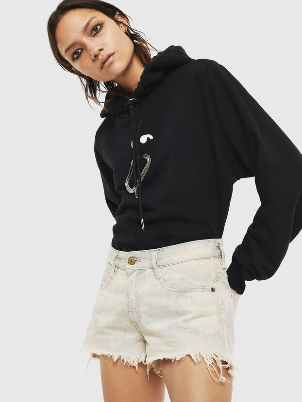 F-ANG-HOOD-S1, Schwarz - Sweatshirts