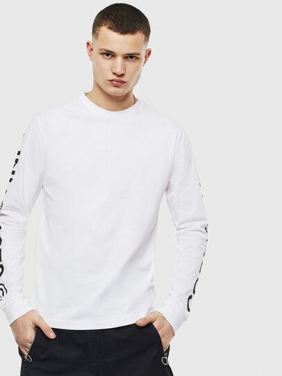Diesel - T-JUST-LS-T14, Weiß - T-Shirts - Image 1