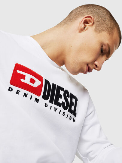 Diesel - S-GIR-DIVISION, Weiß - Sweatshirts - Image 4