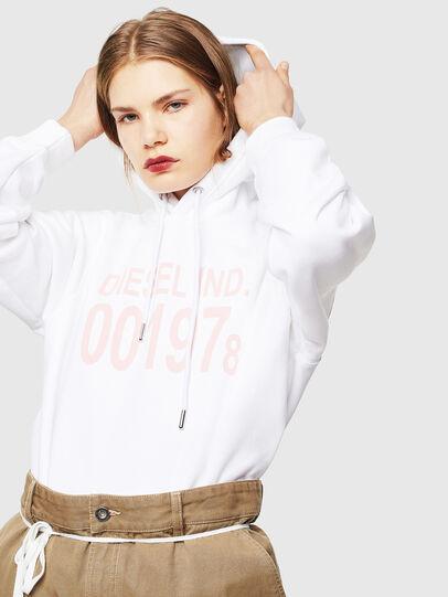Diesel - F-ANG-HOOD-J1, Weiß - Sweatshirts - Image 4