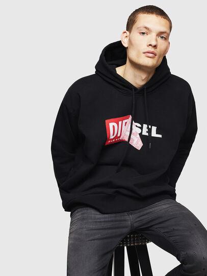 Diesel - S-ALBY, Schwarz - Sweatshirts - Image 4