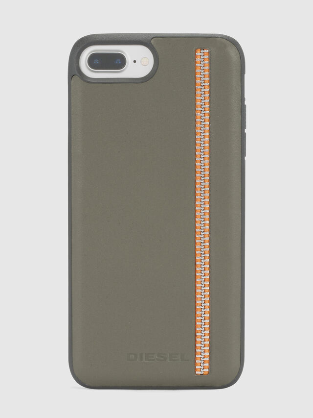 Diesel - ZIP OLIVE LEATHER IPHONE 8/7/6s/6 CASE, Olivgrün - Schutzhüllen - Image 2