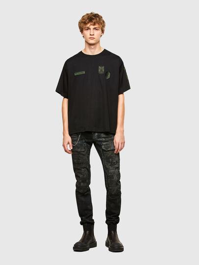 Diesel - T-CROLF, Schwarz - T-Shirts - Image 4