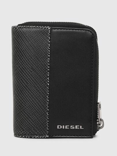Diesel - L-12 ZIP, Schwarz/Weiß - Portemonnaies Zip-Around - Image 1