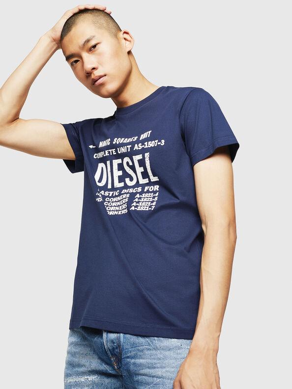 T-DIEGO-B6, Blau - T-Shirts
