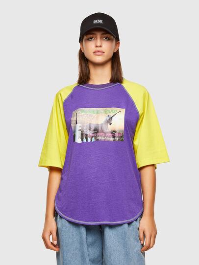 Diesel - T-SPO, Violett/Gelb - T-Shirts - Image 1