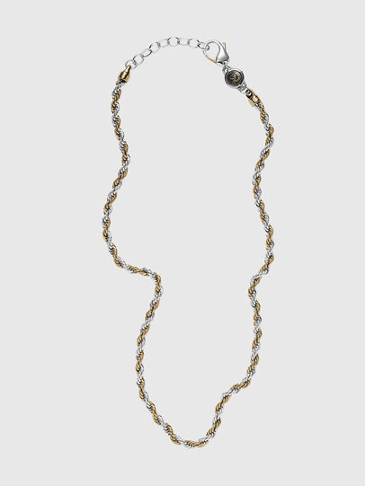 Diesel - DX1265, Gold/White - Necklaces - Image 1