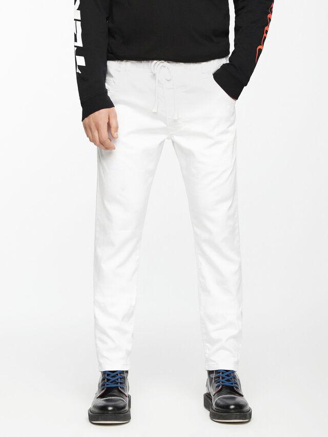Diesel Krooley JoggJeans 0684U, Weiß - Jeans - Image 2