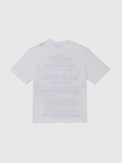 Diesel - TBALLX2 OVER, Bianco - T-shirts e Tops - Image 2