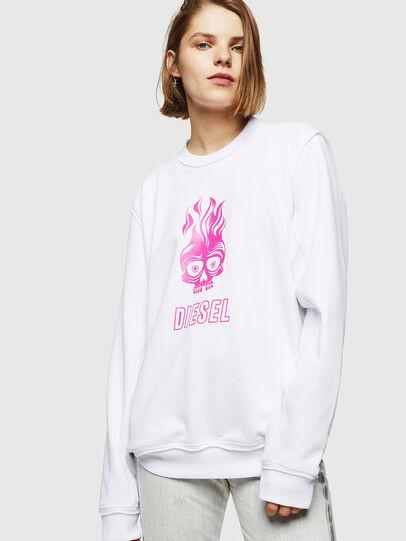 Diesel - F-LYANY-E, Weiß - Sweatshirts - Image 1
