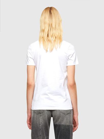 Diesel - T-SILY-SMALLOGO, Blanc - T-Shirts - Image 2