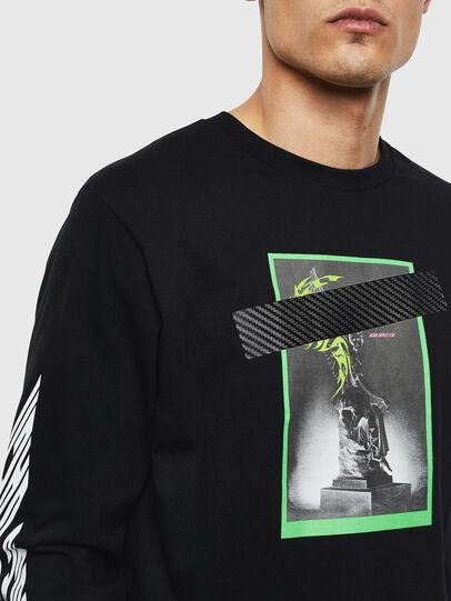 Diesel - T-JUST-LS-T13, Schwarz - T-Shirts - Image 3
