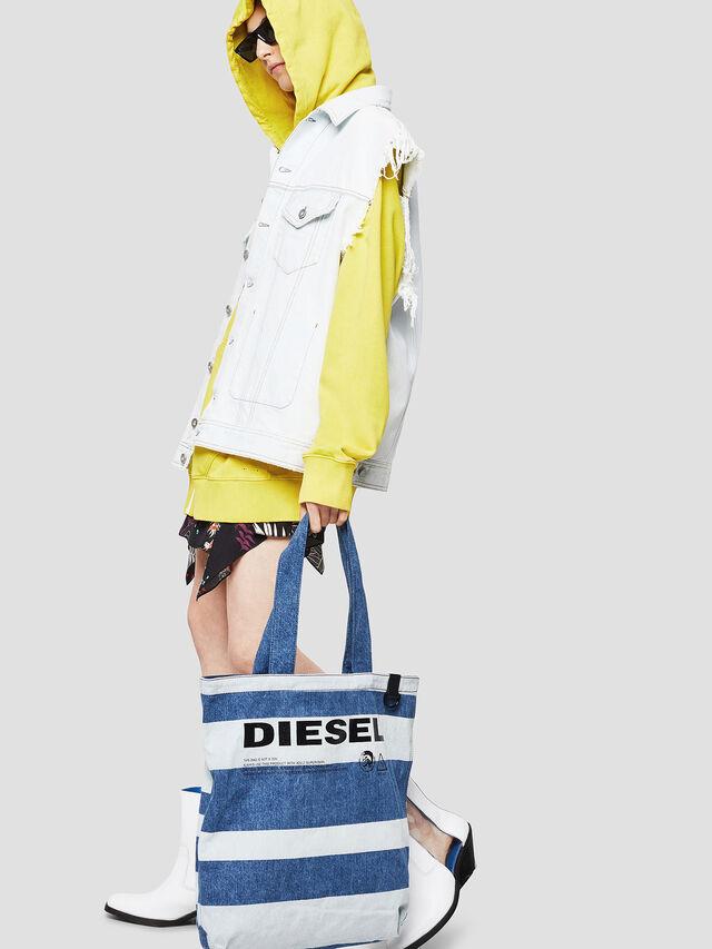 Diesel - F-THISBAG SHOPPER NS, Jeansblau - Shopper und Schultertaschen - Image 5