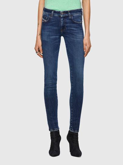 Diesel - Slandy Low 009ZX, Blu Scuro - Jeans - Image 1