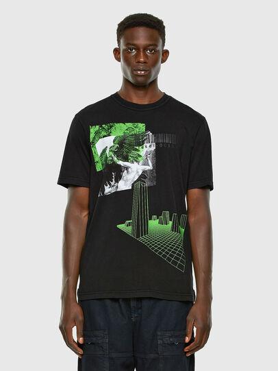 Diesel - T-JUBIND-SLITS, Schwarz - T-Shirts - Image 4