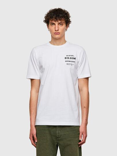 Diesel - T-JUST-B59, Bianco - T-Shirts - Image 1