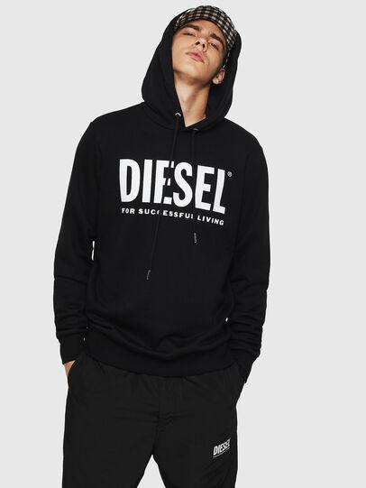 Diesel - S-GIR-HOOD-DIVISION-, Schwarz - Sweatshirts - Image 1