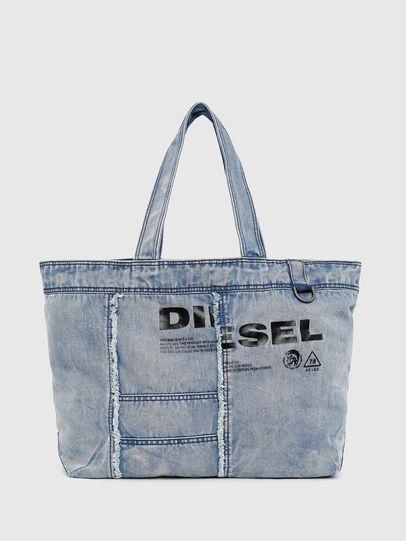 Diesel - D-THISBAG SHOPPER L, Hellblau - Shopper und Schultertaschen - Image 1