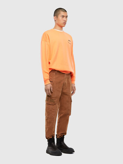 Diesel - S-MART-FLU, Orange - Sweatshirts - Image 5