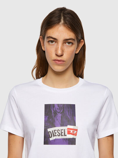 Diesel - T-SILY-B3, Blanc - T-Shirts - Image 3