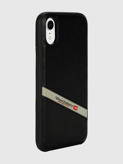 Diesel - DIESEL LEATHER CO-MOLD CASE FOR IPHONE XR, Schwarz - Schutzhüllen - Image 6