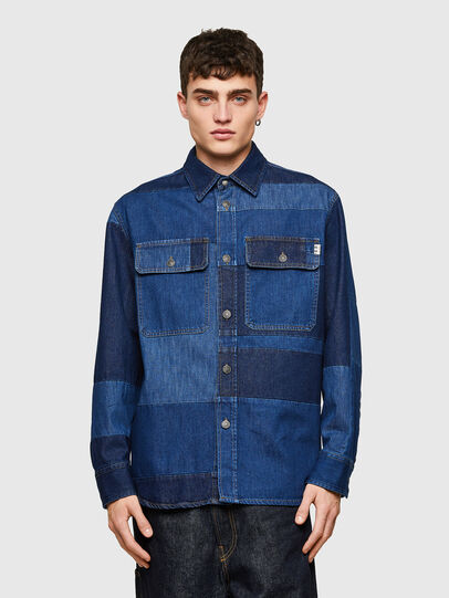 Diesel - D-HORUS, Bleu - Chemises en Denim - Image 1