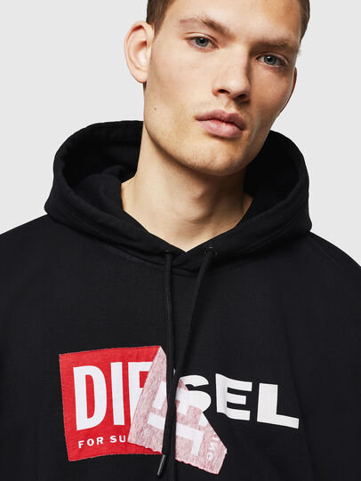 Diesel - S-ALBY, Schwarz - Sweatshirts - Image 3