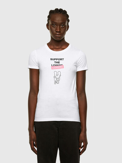 Diesel - T-SOAL-R1, Blanc - T-Shirts - Image 1